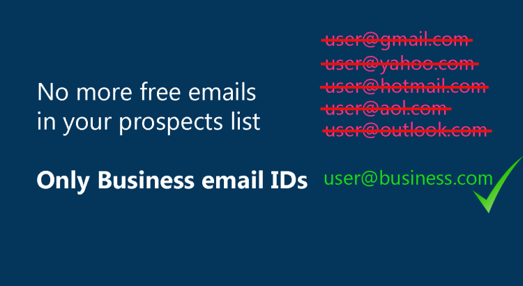 Block specific emails, allow only business emails on your lead forms