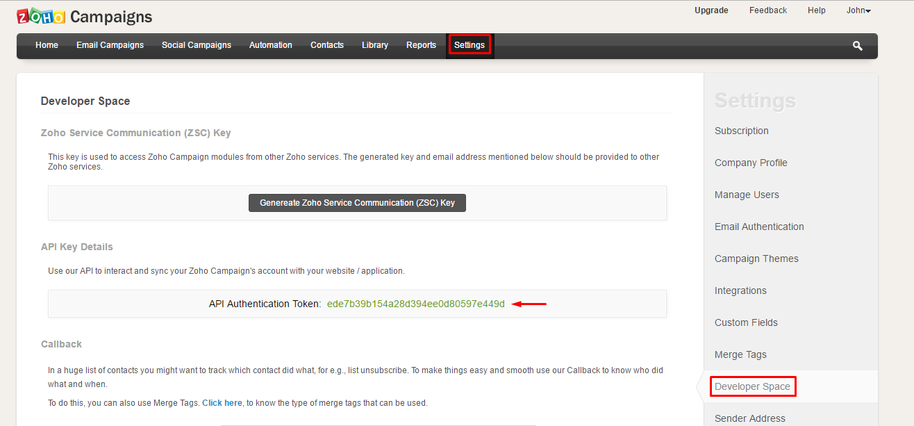 Optingun Integration with ZOHO Campaigns